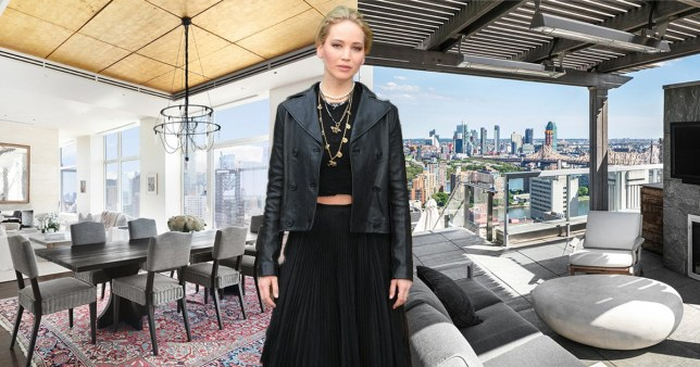 Inside Jennifer Lawrence's $12m New York penthouse – from ping-pong tables to an outdoor kitchen