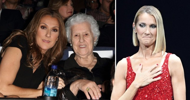 Celine Dion and mum