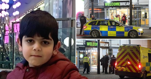 Aadil Umair Rahim, age 6, went missing from Newport Pagnell Services at around 7.15pm on Friday evening