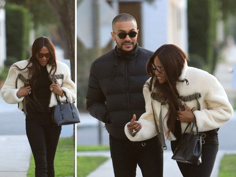 Naomi Campbell absolutely loving life as she hangs out with male pal in Beverly Hills