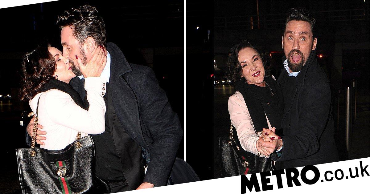 Loved-up Shirley Ballas and Danny Taylor can't keep lips off one another