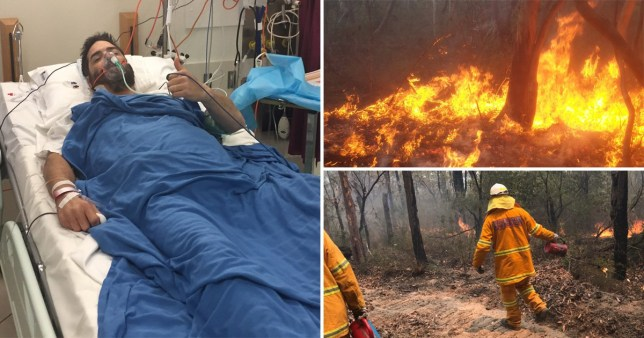 Caption: A Welsh firefighter has been hailed a hero while battling blazes in Australia as the country is ravaged by devastating bushfires. Credit: Media Wales