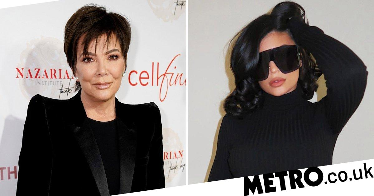 Kylie Jenner imitates momager Kris in all-black outfit