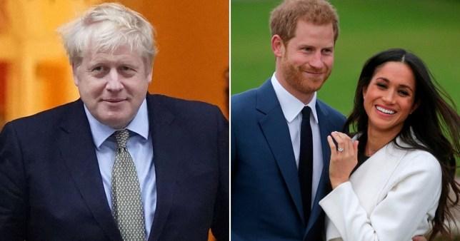 Boris Johnson wishes the Duke and Duchess of Sussex well