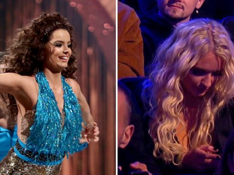Dancing On Ice: Lucie Donlan trolled for being on phone while 'supporting' Maura Higgins