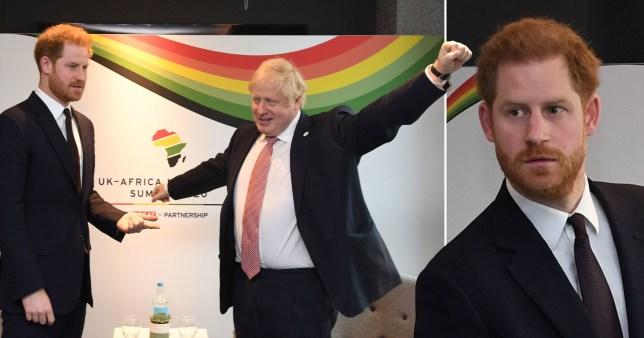 Prince Harry meets Boris at Africa Summit