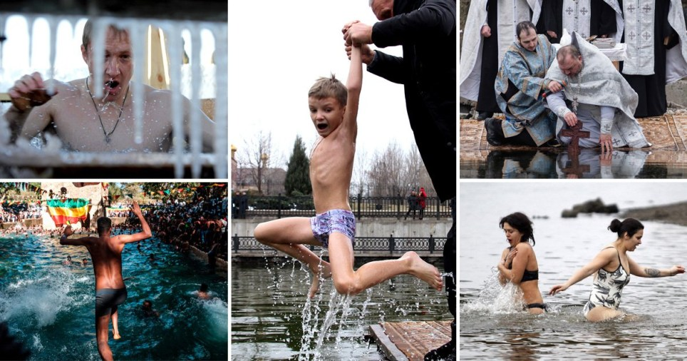 Epiphany celebrations in Russia, Ethiopia and Ukraine