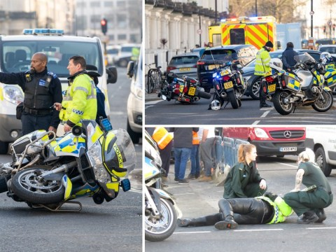Royal protection outrider hit by minicab near Kensington Palace