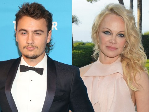 Pamela Anderson's son Brandon Thomas Lee admits he's 'incredibly happy' as she marries Jon Peters