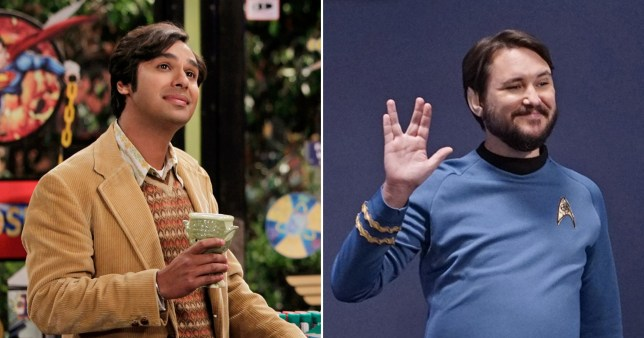 Kunal Nayyar and Wil Wheaton