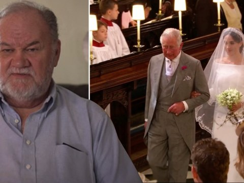 Thomas Markle 'cried' watching Charles walk Meghan down the aisle on TV from 'safe house'