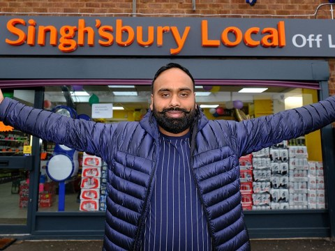 Man who called his shop Singh'sbury Local insists it's 'just a coincidence'
