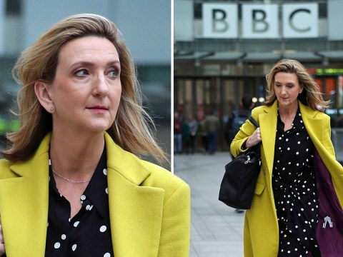 Victoria Derbyshire looks like she means business as she leaves the BBC after show cancellation
