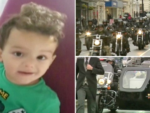 Hundreds of bikers rev engines so motorcycle-mad boy can 'hear them in heaven'