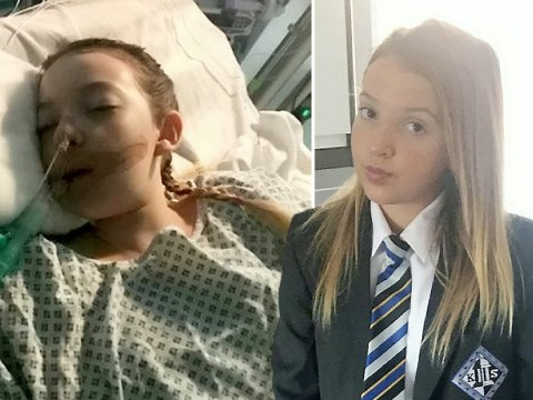 Girl spent eight days in coma after getting sepsis from sore throat