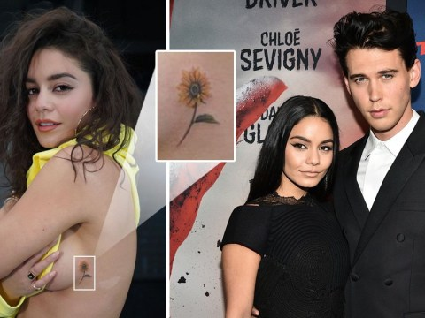 Vanessa Hudgens shows off new sideboob tattoo for 'Thirsty Thursday' after split from Austin Butler