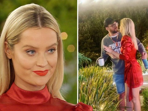 Laura Whitmore surprised by Iain Stirling on his birthday at Love Island villa