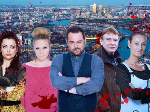 Who dies in the EastEnders 35th anniversary River Thames plunge?