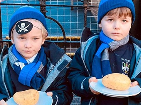 Boys served jacket potatoes every day because of their allergies