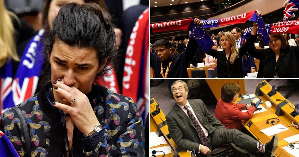 European Parliament votes on Boris Johnson's Brexit deal