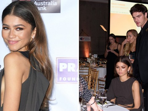 Zendaya and Jacob Elordi are all smiles as they hang out at AAA Arts Awards in New York