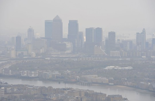 Air pollution over London  (Credits: PA)