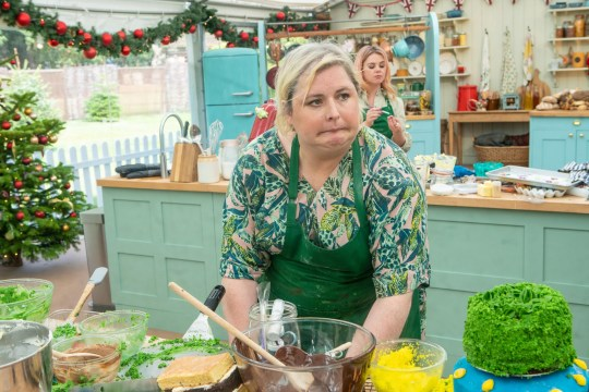 Undated handout photo issued by C4/Love Productions of Derry Girls actor Siobhan McSweeney appearing in The Great Festive Bake Off. PA Photo. Issue date: Wednesday January 1, 2020. See PA story SHOWBIZ BakeOff. Photo credit should read: C4/Love Productions/Mark Bourdillon/PA Wire NOTE TO EDITORS: This handout photo may only be used in for editorial reporting purposes for the contemporaneous illustration of events, things or the people in the image or facts mentioned in the caption. Reuse of the picture may require further permission from the copyright holder.