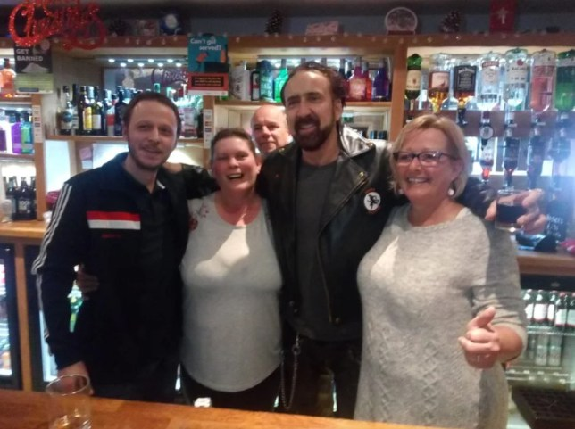 Nicholas Cage spotted enjoying NYE in local Somerset pub