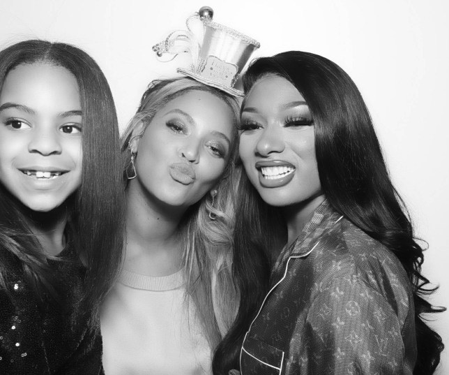 Beyonce, Blue Ivy and Megan Thee Stallion