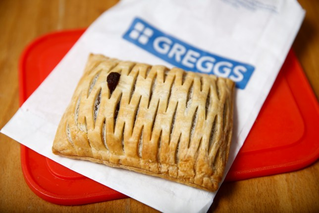 A Vegan Steak Bake bought from a Greggs shop in London is pictured, Britain, January 2, 2020. REUTERS/Henry Nicholls