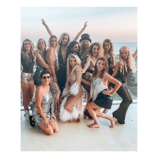 Elsa Pataky with friends and family at New Year's Eve party