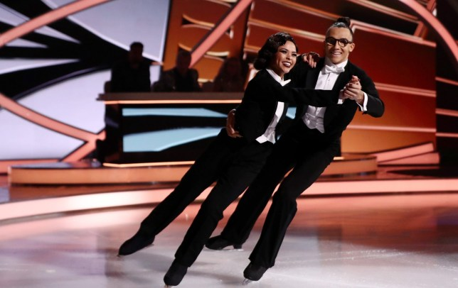 Vanessa Bauer and Perri Kiely in Dancing On Ice
