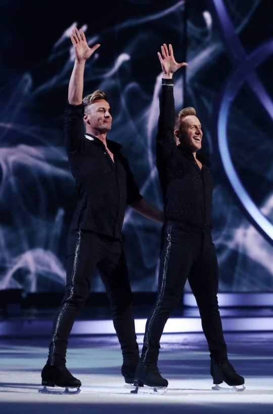 Editorial use only Mandatory Credit: Photo by REX (10518138cf) Ian 'H' Watkins and Matt Evers 'Dancing On Ice' TV show, Series 12, Episode 1, Hertfordshire, UK - 05 Jan 2020