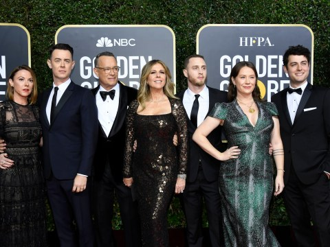 Dad-of-four Tom Hanks thanked his 'five kids' at Golden Globes 'because he sees daughter-in-law as his own child'