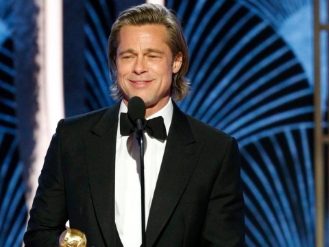Is Brad Pitt hiring a ghostwriter to put together his hilarious awards acceptance speeches?