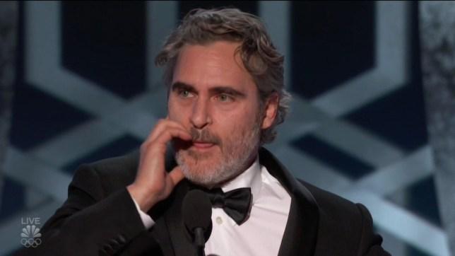 Joaquin Phoenix golden Globes acceptance speech