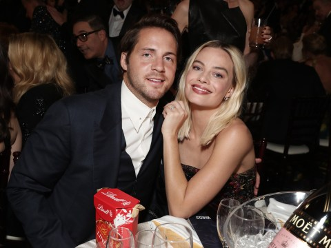 Margot Robbie's husband Tom Ackerley joins wife on rare public date night at Golden Globes