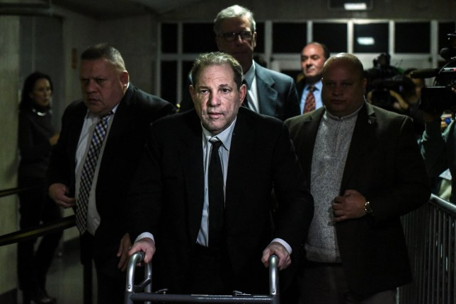 NEW YORK, NY - JANUARY 06: Harvey Weinstein leaves the courtroom in New York City criminal court on January 6, 2020 in New York City. Weinstein, a movie producer whose alleged sexual misconduct helped spark the #MeToo movement, pleaded not-guilty on five counts of rape and sexual assault against two unnamed women and faces a possible life sentence in prison. (Photo by Stephanie Keith/Getty Images) *** BESTPIX ***