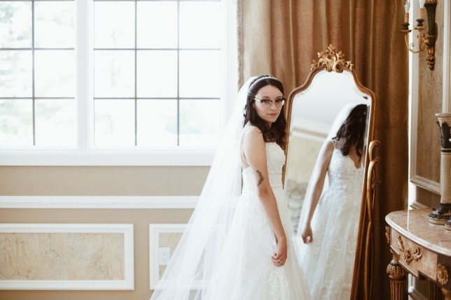 Stephanie pictured on her wedding day