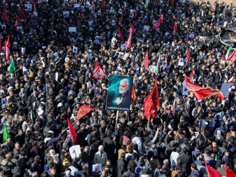 Dozens of mourners killed at funeral of Iran general after stampede breaks out