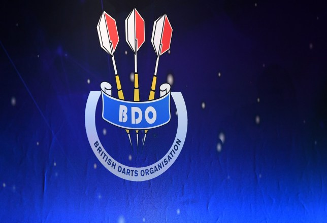 LONDON, ENGLAND - JANUARY 09: A detailed view of BDO branding prior to Day Six of the BDO Darts Championships 2020 at O2 Indigo on January 09, 2020 in London, England. (Photo by Alex Davidson/Getty Images)