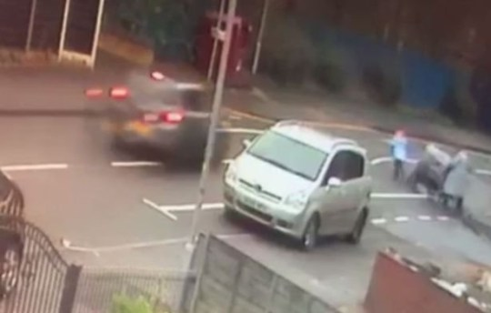 Shocking video shows a six-year-old being hit by a car - before the driver allegedly drove off giving a middle-finger salute after swearing at the girl's mother. Sumaiya Ahmed's family said the motorist opened her window and told the youngster's mum Jukia to 'f**k off', before sticking her middle finger up and fleeing the scene. Caption: CCTV still of Sumaiya Ahmed, six, being hit by a car on Eustace Street in Chadderton, Greater Manchester, on January 7, 2019