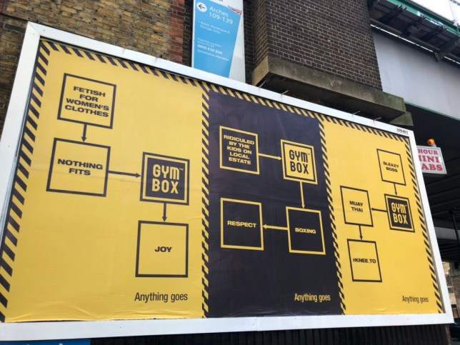 A Gymbox ad that has received backlash
