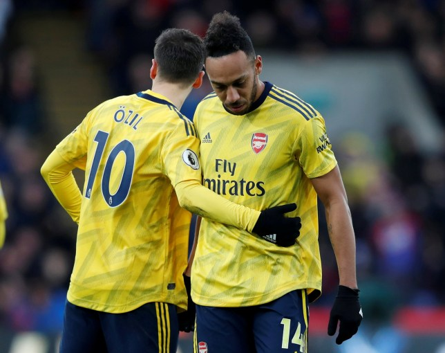 Arsenal captain Pierre-Emerick Aubameyang was sent-off against Crystal Palace