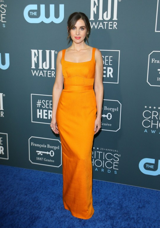 US actress Alison Brie arrives for the 25th Annual Critics' Choice Awards at Barker Hangar Santa Monica airport on January 12, 2020 in Santa Monica, California. (Photo by Jean-Baptiste LACROIX / AFP) (Photo by JEAN-BAPTISTE LACROIX/AFP via Getty Images)