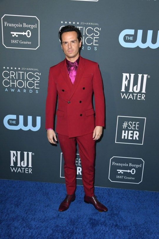 SANTA MONICA, CALIFORNIA - JANUARY 12: Andrew Scott attends the 25th Annual Critics' Choice Awards at Barker Hangar on January 12, 2020 in Santa Monica, California. (Photo by Steve Granitz/WireImage)