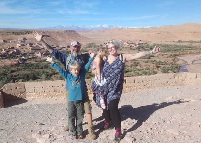 The Beeson family in Ait Ben Haddou, Morocco (PA Real Life/Collect)