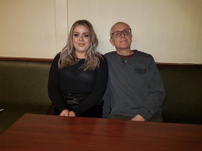 Brave student Jessica Duffield pictured with her dad Keith who also has cancer
