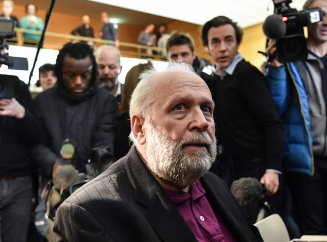 Bernard Preynat, a former priest accused on sexual assaults, waits on January 13, 2020 at the beginning of his trial in the courthouse of Lyon, southeastern France. (Photo by PHILIPPE DESMAZES / AFP) (Photo by PHILIPPE DESMAZES/AFP via Getty Images)