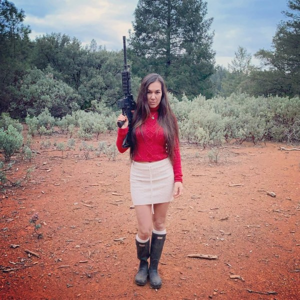 The Girls off grid, doris holding a gun